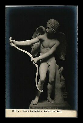 Dr Jim Stamps Love With Arrow Museum Capitolino Rome Italy Art Rppc Postcard