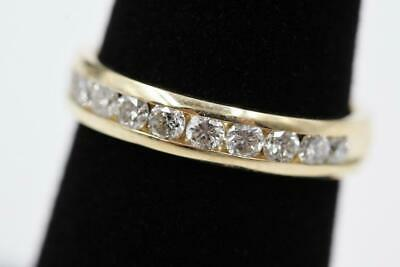 Incredible 14K Yellow Gold 11 Diamonds 4Mm Wide .40Ctw Size 6 Band