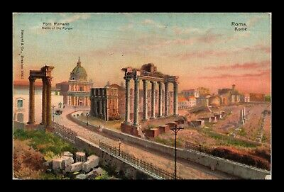 Dr Jim Stamps Roman Forum Ruins Rome Italy View Postcard 1907