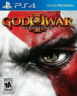 God of War III: Remastered (Sony PlayStation 4, 2015) PS4 NEW