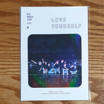 BTS Official Sticker Pack 4 pcs Love Yourself World Tour Seoul DVD Genuine Kpop