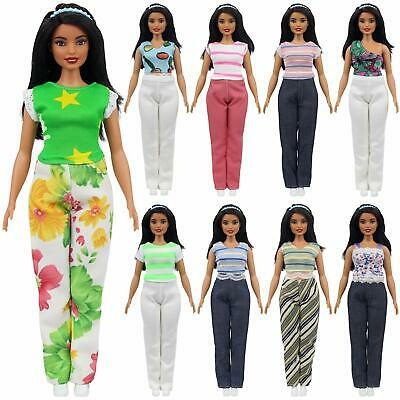 Fashion Casual Wear Clothes for Fat 11.5 Inch Girl Dolls | 5 Shirts + 5 Pants