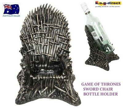 Game Of Thrones Chair Bottle Holder Bronzed Thousand Swords Iron Throne 20Cm New