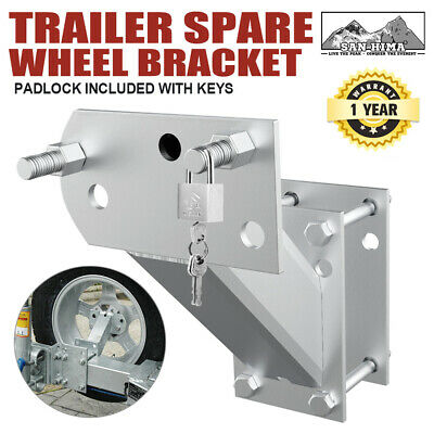 【20%OFF】Spare Wheel Bracket Carrier Holder Tyre Galvanised Trailer Part Caravan
