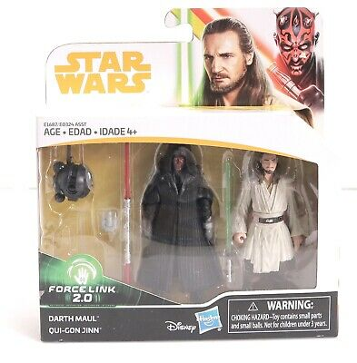 Star Wars Force Link 2.0 Darth Maul & Qui-Gon Jinn 2-pack NIB