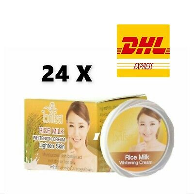 24 x White Rose Rice Milk Whitening Cream Lightening Skin Treatment DHL Express