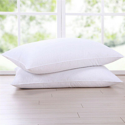 High-grade Down Bed Pillow Goose Feather and Down Pillow Standard Size 45*75cm T