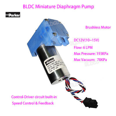 Parker C183-22-01 BLDC 12V DC Miniature Vacuum Diaphragm Pump Oil-free Air Pump