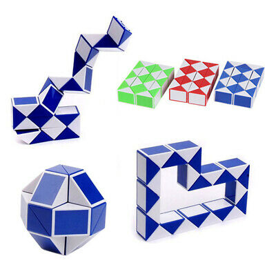 Magic Cube Snake Rubix Rubic Game Puzzle Party Travel Family Mini Toy For Kids A