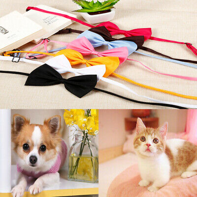 50 Pcs Dog Cat Accessories Bow Tie Adjustable Necktie Collar Bowtie Pet Bandana