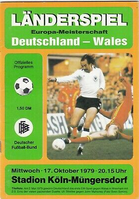 Germany v Wales 1979 (17 Oct) European Championship Qualifier