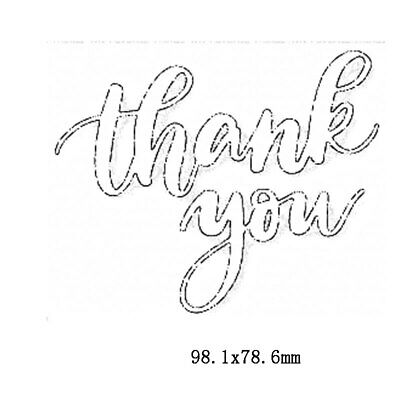 Thank You Phrases Metal Cutting Dies Stencil Scrapbooking Embossing Card Making