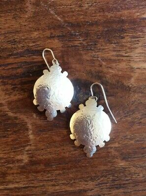 BOUVIER Hammered Sterling Silver 925 Boho Earrings Hand Crafted Artisan