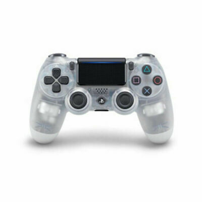 For PS4 Transparent White Wireless Bluetooth Dualshock 4 Gamepad Controller