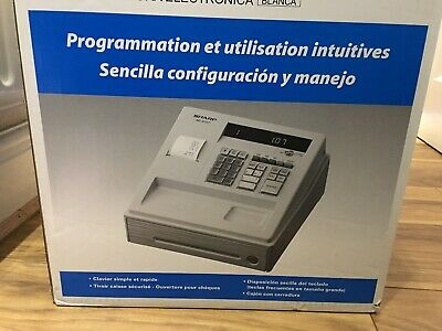 Sharp xe-a107-WH cash register with keys Used IN Original BOX
