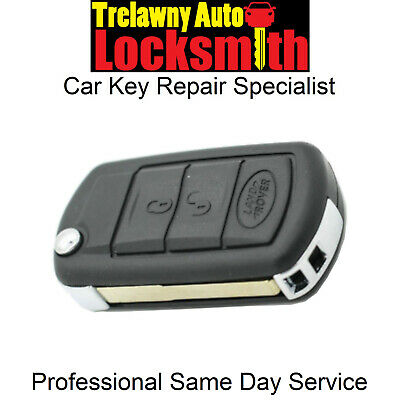 Range Rover Sport 3 button remote flip key fob Repair Shell replcement for Land Rover Discovery 3 Automobie Locksmith Ltd Repair Service Voucher
