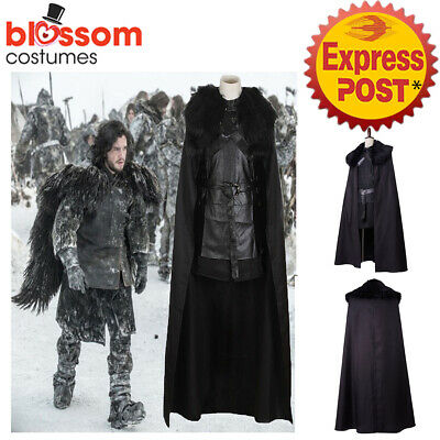 K832 Mens Jon Snow Game of Thrones Medieval Knight Song of Ice & Fire Costume