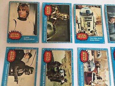 Vintage STAR WARS Topps Trading Cards Original 1977 1-66 Complete Blue Set