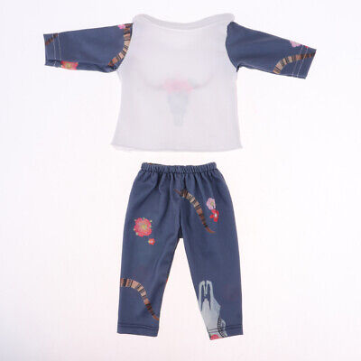 Two-piece Baby Doll Top Pants Set 18inch American Doll Dress Up Accessory