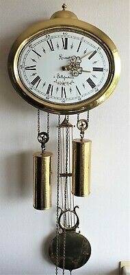 Wall Clock Comtoise Style 8 Day Hermle, Rousset a' Bellefontaine Vintage Dutch