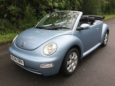 2004 Vw Beetle Cabriolet Convertible 2.0 8V Low Mileage Baby Blue Black Leather
