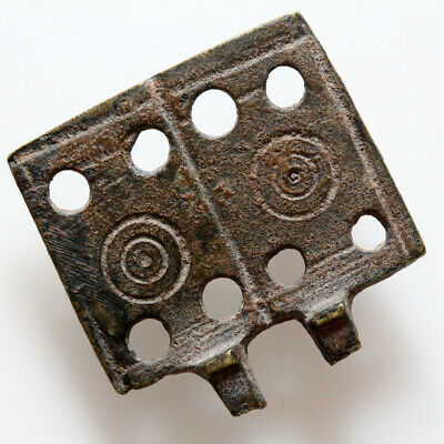 Byzantine Brass Decorated Belt Plate Buckle Circa 700-1000 Ad