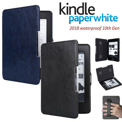 For 2018 Kindle Paperwhite 4 10th Generation Leather Magnetic Smart Case Cover