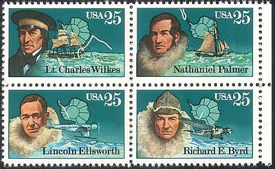 USA 1988 Polar Explorers/Byrd/Antarctic/Ships/Planes/Transport 4v blk (n25435)