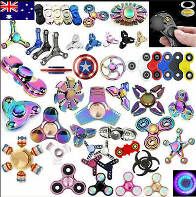 AU 3D Fidget Hand Spinner Finger Toys EDC Focus Stress Reliever For Kids Adults
