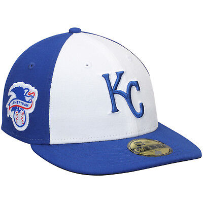 reputable site 4dc2f 55045 New Era Kansas City Royals Baseball Hat Cap Fitted 7 1 2 59Fifty Low Crown