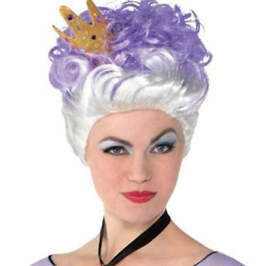 7ef58262c Brand new in Package, Womens Ursula Wig, Little Mermaid, Silver & Violet,