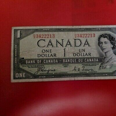 1954 Canada Devil's Face One Dollar Banknote