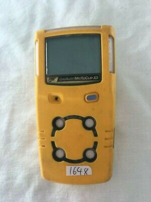 BW GasAlert MicroClip X3 LEL(F) O2 H2S CO Gas Detector good condition