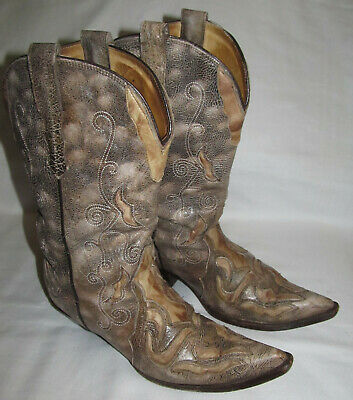 53fc0e3b19d CORRAL WOMENS BOOTS Taupe Indie Spirit by Distressed Riding Boots ...