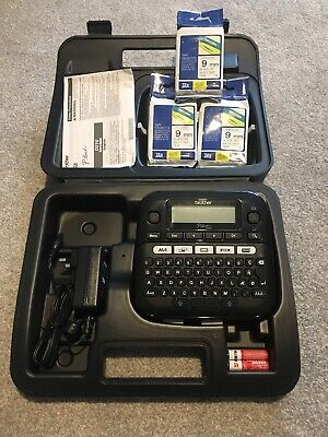 Brother P Touch D210 Label Maker Incl 3x Tape Cassette