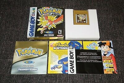 Pokemon Gold Version - Usa Nintendo Gameboy Color Game Boxed & Complete