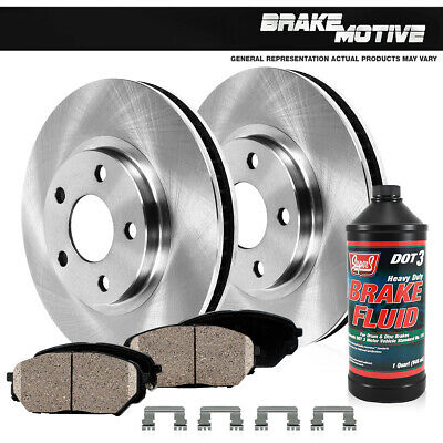 Front Brake Rotors /& Ceramic Pads For 2013 2014 HONDA ACCORD COUPE SEDAN EX EXL