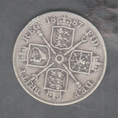 1887 Great Britain Silver Double Florin