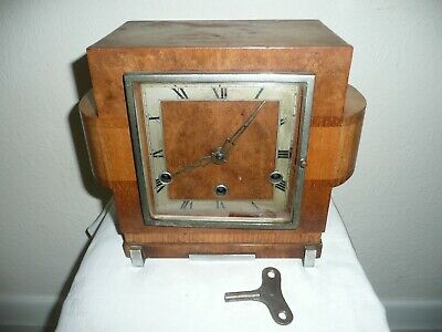 Art Deco, Westminster Chimes Mantle Clock in Unusual Shape Case, For Restoration