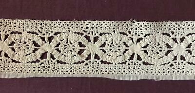 "17""/43 cm BEAUTIFUL RARE 17th CENTURY BOBBIN LACE, ITALIAN GENOESE 145"