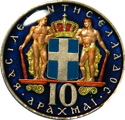 WCA Enamelled 10 Drachmai 1968 Greece