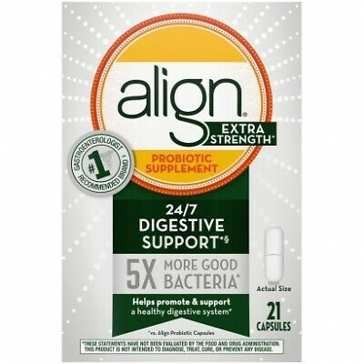 Align Extra Strength probiotic supplement 21 capsules EXP 6/2020+