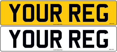Pair Standard Registration Number Plates Car Van Trailer Caravan MOT Compliant