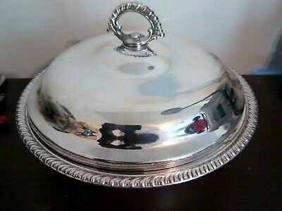 Vintage Wm Rogers 862 Silver Round Serving Bowl