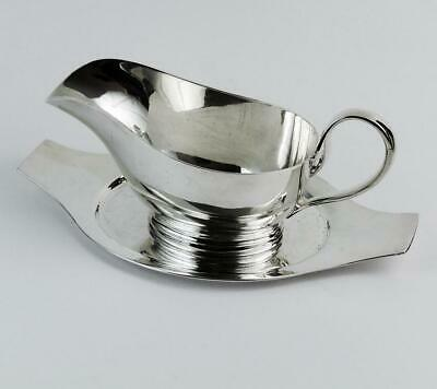 ART DECO SAUCE BOAT Silver Plated MAPPIN & WEBB c1930 CLASSIC OCEAN LINER