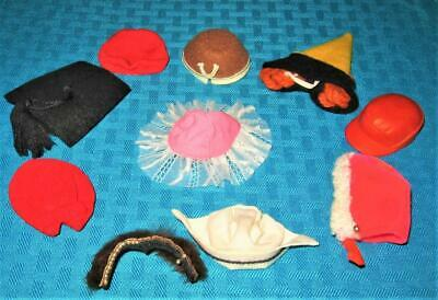 Vintage Ken Barbie Skipper Tutti 4 Clothes Good To Tlc Hat Lot!