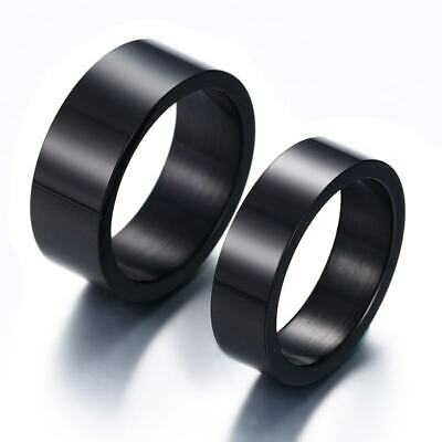 316L Stainless Steel Men's/Women's Lovers Black Ring Fashion Jewelry Size 5-12