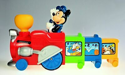 DIsney Mickey Mouse Battery Operated Expanding Choo Choo Train Works Mattel 2000