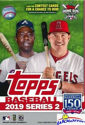 2019 Topps Series 2 Baseball EXCLUSIVE HUGE Factory Sealed 67 Card Hanger Box