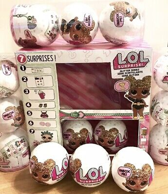 LOL Surprise Glitter Series Doll 7 Surprises Ball AUTHENTIC MGA Queen Bee Maybe?